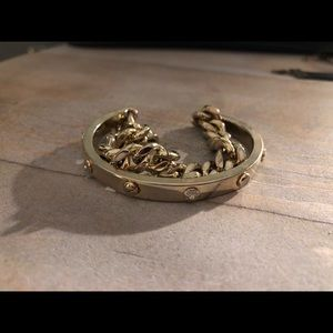Gold double bracelet Henri Bendel